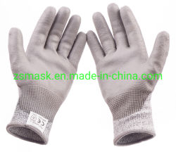 ANSI revestido de PU4 Resistente a cortes guantes de seguridad de trabajo