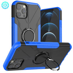 Hoes voor iPhone 12 magnetische ringhouder 360 draaivoet