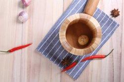 Le ménage des ustensiles de cuisine en bois de Bambou Pound Sel et poivre/gingembre/l'Ail/herb/fruits Handmade Spice Gadgets