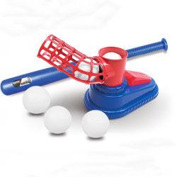 장난감 실내 야외 스포츠 야구 경기 어린이용 T-볼 세트 배팅 머신 트레이닝 자동 런처 야구 Bat Toys