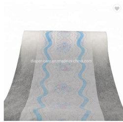 Ламинирование нетканого материала пленки для малыша максимальная пропускная способность Diaper Одноразовые пленки PE Baby Diaper сырьевых материалов