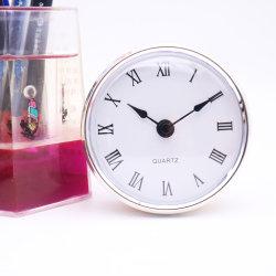 80mm Plata Reloj Marco insertar con PVC Roma marcar