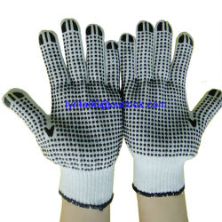 PVC luvas pontilhada Algodão Luvas de malha com pontos luvas de trabalho pigmentada de luvas de algodão luvas de segurança MARCAÇÃO
