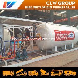 Nigeria la cocina de gas cilindro de gas 20000L móvil Planta de gas de la estación de llenado de gas de la estación 20cbm patín
