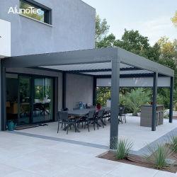 Pergola impermeabile motorizzato dell'alluminio del Gazebo del giardino esterno del tetto della feritoia