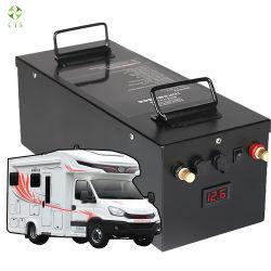 قابلة لإعادة الشحن بجهد 12 فولت وقدرة 48 فولت وقدرة 50 أمبير في الساعة 100 أمبير في الساعة 200 أمبير في الساعة و300 أمبير في الساعة و400 أمبير في الساعة 500 أمبير في الساعة بطارية ليثيوم أيون الليثيوم Li Ion LFePO4 للتخزين الشمسي لمدة RV/Golf Cart/Yacht/Marine/Motorhome/Agv