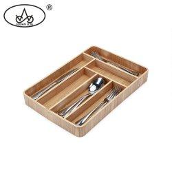 Hölzernes Küchenbedarf-Umhüllungcookware-Gabel-Speicher-Gabel-Tischbesteck-Tellersegment für Gerät-Organisator