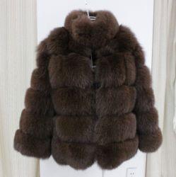 Nuovo stile cuciture Faux Fox Coat in pelliccia Donna pelliccia invernale Camice Large Size Donna uomo-made Coat