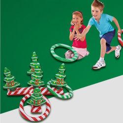 Открытый и крытый рождественских вечеринок играть игрушки надувные елки кольцо Обмакните игры для детей