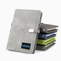 Colorida carga inteligente portátil con cerradura magnética 8000mAh/10000mAh y PU cubierta rígida papelería como regalo promocional