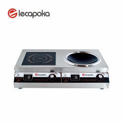 Le contre-batteur de l'Inde National Chine Prix Double 2 Brûleur Wok 3000W 3500W cuisinière induction électrique 5kw commercial