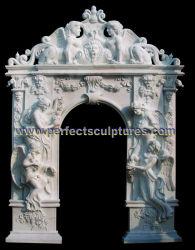 Arco de granito em mármore de pedra para a Porta do Porta Porta Surround (DR045)