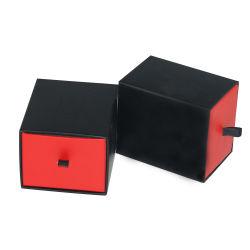 Gaveta de luxo para as caixas de acondicionamento, Personalizado simples oferta de papel preto Caixa de relógio