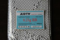 Airsoft Bb 탄알 6mm 0.23G 백색 색깔