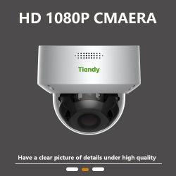 كاميرا الرؤية الليلية تحت الحمراء Tiandy التي تعمل بالأشعة تحت الحمراء CCTV بدقة 2 ميجابكسل أمان الرؤية الليلية كاميرا خارجية بدقة 1080p مع كاميرا بتقنية التكبير/التصغير في شكل إشارة 1080p مع نظام Starlight Dome ومقاوم للماء