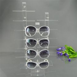 Kundenspezifischer organisches Glascountertop-Sonnenbrille-Kasten-Organisator Acryl-Kurbelgehäuse-Belüftung PS