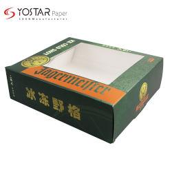 Venta directa de cartón blanca exterior Vino Tinto regalo caja de cartón de embalaje con ventana Transaprent