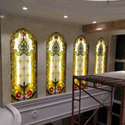الصين مصنع عزل عامة [تيفّني] يليّن يلطّف كنيسة زجاج لأنّ زخرفة
