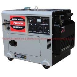 Super Silencioso potente gerador a gasolina de 8 kw (PG10000LN) pela EPA/Carb/Euro V Motor a gasolina com 4 rodas de direcção