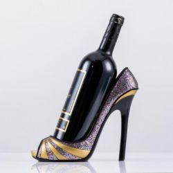 Обувь High-Heeled бамбуковой мебелью из светлого дерева пирог - Вино для установки в стойку