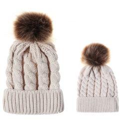 Winter Beanie Knit Beard Beanie Hat met PomPom