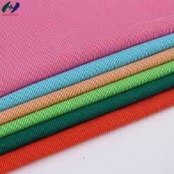 1*1肋骨の縞ファブリックを編む卸し売り染まるファブリック66%C34%Tゆがみ