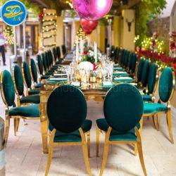 China Evento grossista de fábrica de casamento festa utilizar mobiliário de jantar Cadeira de Aço Inoxidável