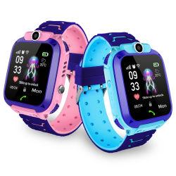 좌우명 Reloj 싼 아이들 추적자 GPS 없는을%s 가진 아이 아이들을%s 지능적인 이동 전화 Smartwatch Q12 GPS 아이 시계