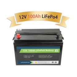 Lithtech más popular mejor vendedor reemplazo de ácido plomo Solar RV Batería de ion litio Marine 12V 100ah 200ah 300AH LiFePO4