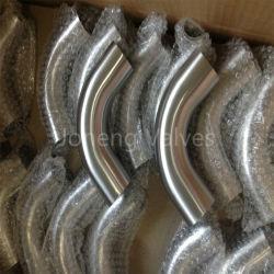 الفولاذ المقاوم للصدأ معالجة الطعام 90 درجة طويلة الطرف