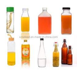 Fornecedor China bebidas OEM garrafa de água de vidro vinho suco de garrafa de vinho Biberão de vidro Kombucha de 260 ml