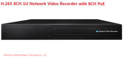 Fsan 2hdds 8CH Full Real-Time HD Network Video Recorder 1u NVR met 8-KANAALS PoE