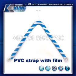 Tomaia del PVC della cinghia del PVC di modo per il materiale del pistone di flip-flop