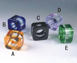 Anel de guardanapo cristal (RNM006)