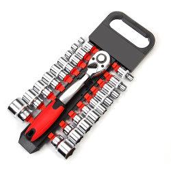 12 Dafei 19PC Serie Hanging Card Plastic Row Sleeve Set, Auto Repair en Mechanical Repair Sleeve Set, Tool Mirror Blue Belt