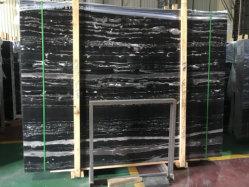 China-Fantasie-Granit-/Quarzit-Platten polierten schwarzen Drache-Silber Portoro Marmor für Countertop-Wand-Fußboden zurechtgeschnittene Fliesen