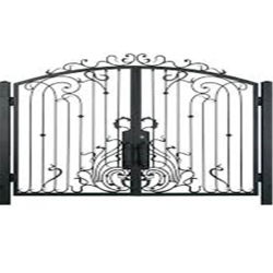 Современный простой металлических затворов наружные защитные элементы утюг сад вход