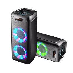 La tecnología inalámbrica Bluetooth altavoces del sistema de caja de altavoz de sonido con Bt Gabinete FM Reproductor de Audio Portátil DJ Altavoz profesional