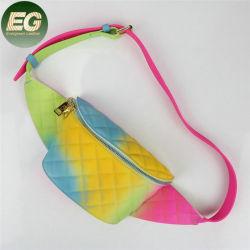 Sh1645 최신 판매 스포츠 옥외 다채로운 작은 돈 전화는 무지개 색깔 여자 PVC 묵 패니 팩 허리 부대를 자루에 넣는다