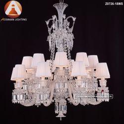 18 lumière Style lustre en cristal de Baccarat lampe de la poignée de commande
