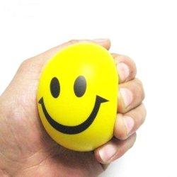 Diseño personalizado sonrisa Face espuma PU Squeeze bola estrés