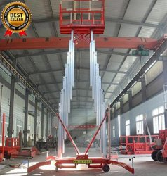 Alliage d'aluminium hydraulique Nettoyage de l'homme plate-forme élévatrice/équipement de levage électrique pour le Shopping Mall