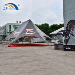 Double pic Centre d'aluminium Pole Star de l'ombre tente pour l'extérieur de l'événement de mariage