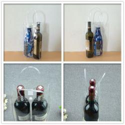 La Chine fournisseurs Dongguan PVC 2 bouteille de vin sac de plastique fourre-tout commerce de gros