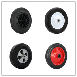 Carrello portautensili a ruota con ruota piena in acciaio/bordo in plastica