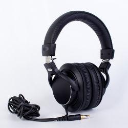 製造は記録のための専門のスタジオのヘッドホーンのモニタを取り消す耳の騒音上のワイヤーで縛られたステレオのヘッドセットをカスタマイズする