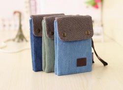 電話のための卸し売り小型ブルー・ジーンズのキャンバスのハンド・バッグ