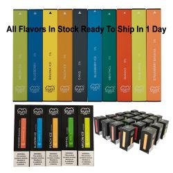 Vide de métal blanc bleu clair E cigarette électrique Dropshipping différentes saveurs E bouffée de cigarette vaporisateur jetables bar snack