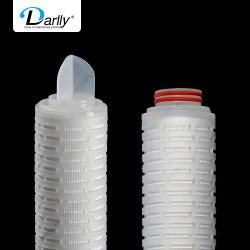 Утверждения FDA фильтр предварительной очистки 1 мкм PP абсолютной гофрированный фильтр для минеральной воды