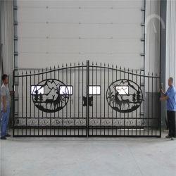 Ornamentales cercas decorativas entrada principal de diseño de puerta de hierro forjado.